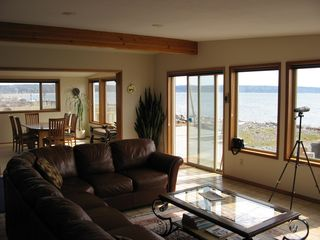 Coupeville house photo - Great room and dining room face the ocean with windows across for great views!