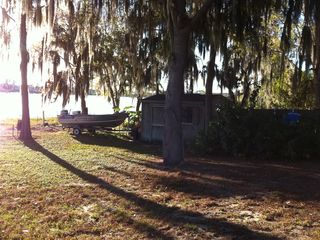 Lake Buena Vista house photo - Back yard shed & fishing boat