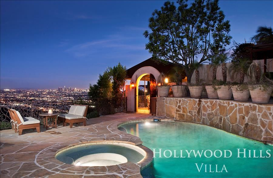 hollywood hills villa above sunset strip vrbo. Black Bedroom Furniture Sets. Home Design Ideas
