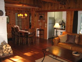 Lake Arrowhead cabin photo - Living room/Dining room