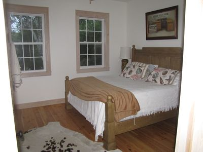 Folly Beach cottage rental - Big Daffodil Master Bedroom , King Bed, Bath off bedroom