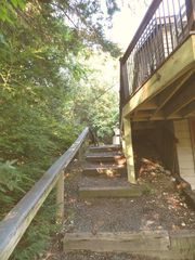 Moultonborough house photo - Steps up to Driveway Area.