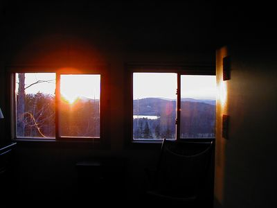 sunset view from both bedrooms