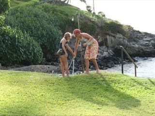 Napili house photo - Showering after ocean swim