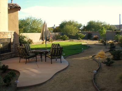 Views from Guesthouse w outdoor fireplace, private patio w/dining table &Gas BBQ