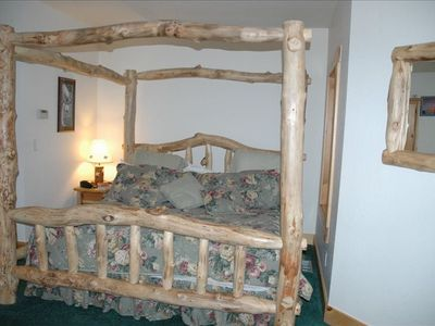 king aspen hand carved bed/master