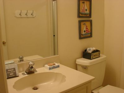 1 of (2) Full bathrooms on second level. Both have large Stall Showers.