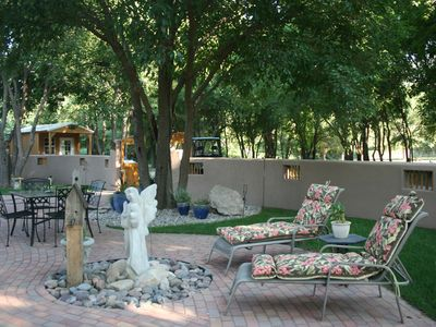 Ruidoso house rental - Courtyard