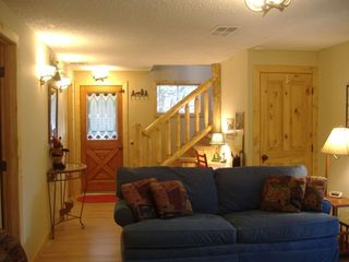 Bright & Sunny Entry. Alternate view of family room.