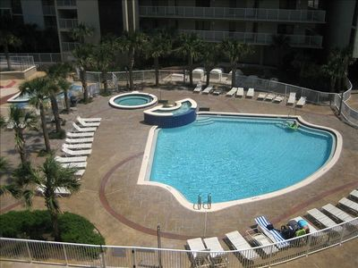 Mainsail Resort condo rental - Balcony View of Pool Area with Large Hot Tub