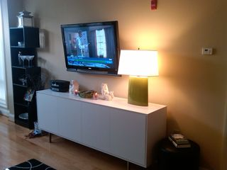 Logan Circle condo photo - Entertainment area with flat screen/HDTV, cable/On Demand, Wi-Fi & Bose stereo.