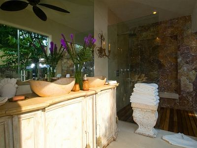 Punta Mita villa rental - Guest Suite Bath (Pavilion 3 - Upper Level)