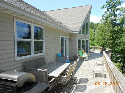 Main Floor Deck...Grill-Patio Table-Deck Chairs & Lounge Chairs