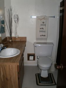 Clean Full Bathroom with Blow Dryer (Upstairs)