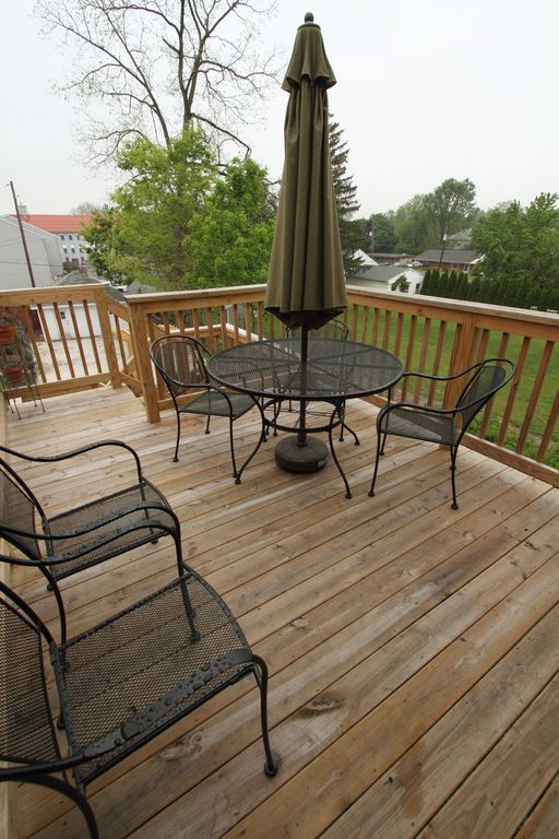 Deck off of back porch and kitchen May 2012