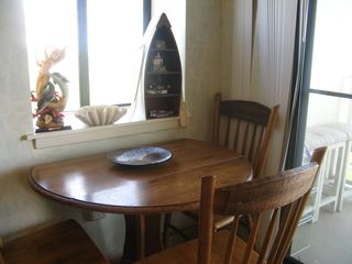 Gulf Shores condo photo - Dining area with 2 views of Gulf