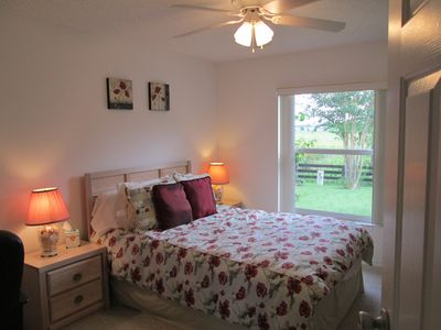 The second bedroom overlooks the Nature Preserve.