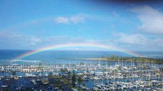 Waikiki condo photo - Double rainbow for June 2012 from our lanai.