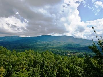Views of Great Smoky Mountains National Park, from Gatlinburg cabin rental deck