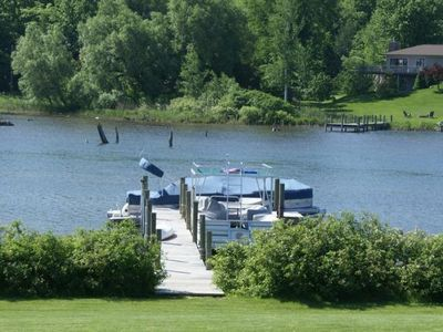 The dock has enough space for several watercraft.