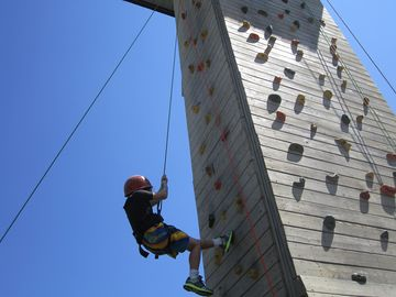 Climbing wall at the Crystal Mt. Adventure center