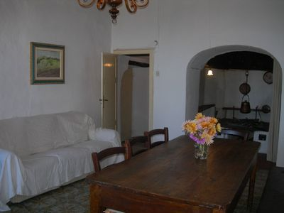 Montecastelli apartment rental - Casa Cennini-livingroom with big fireplace