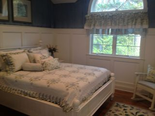East Hampton house photo - Bedroom with queensize bed.