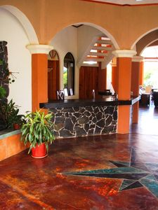 Dominical villa rental - the reception area