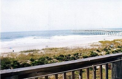 Holden Beach condo rental - Looking at ocean from Patio