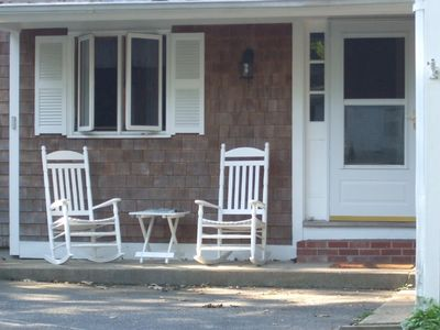 Enjoy morning coffee on the front porch