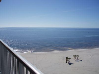 View of Beach and Gulf from our Balcony