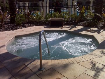 HOT tub at clubhouse