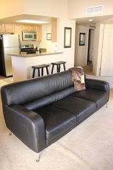 Tucson condo photo - Natuzzi leather sofa to relax on after a day of sightseeing
