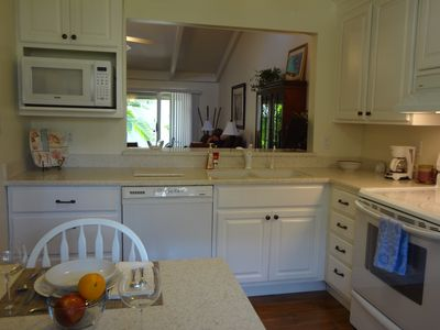 Fully equipped kitchen with new appliances including convection oven.