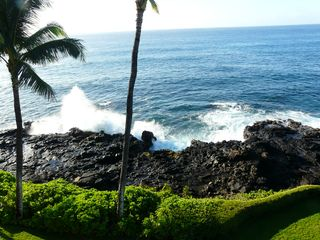 Poipu condo photo - Shore line from lawn, great for kids to play