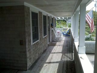 Chatham house photo - Long View Front Porch- With rocking chairs and sun area with seating