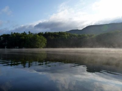 Morning mist on Lake Dunmore
