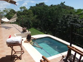 Nosara house photo - Outdoor whirlpool with spectacular view to the Pacific