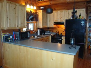 Lunenburg cabin photo - Kitchen Island looking from dining area