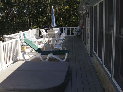 Chatham house rental - Large deck for entertaining.