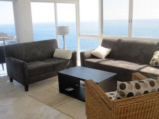 Huatulco condo photo - Livingroom with amazing ocean views