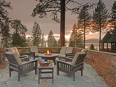 Stunning Lake Views from Exterior Firepit