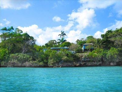 Ocho Rios cottage rental - The property from the sea