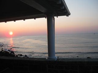 Rockport house photo - Sunrise from the upper deck.