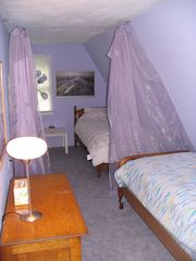 West Wardsboro house photo - cozy second bedroom with 3 twin beds - guest house