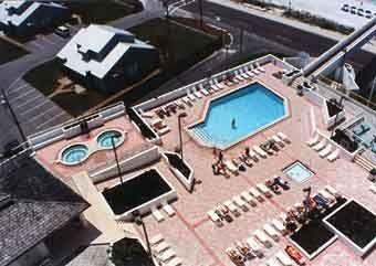 Aerial View Pool Deck