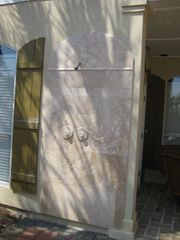 Emerald Shores house photo - Outdoor travertine shower
