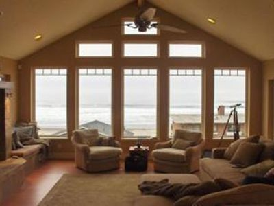 Pacific City house rental - Great Room With Full Ocean View