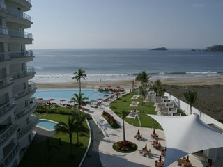 Ixtapa condo photo - Ocean and Pool view from terrace