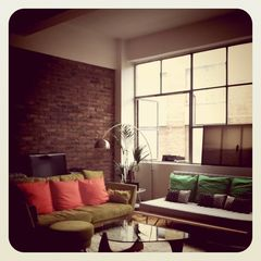 City of London apartment photo - Three sleeper sofas couches, light, wood floors, ex-warehouse loft